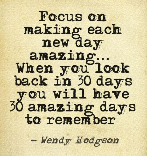 Focus on today